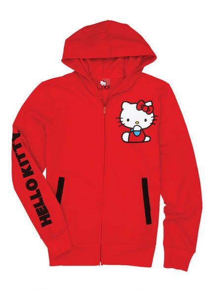 Hello Kitty Attitude Red Hoodie