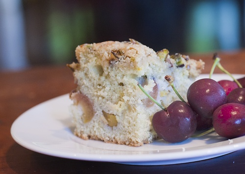 Pistachios, Cherries and Crumble topping on Pinterest