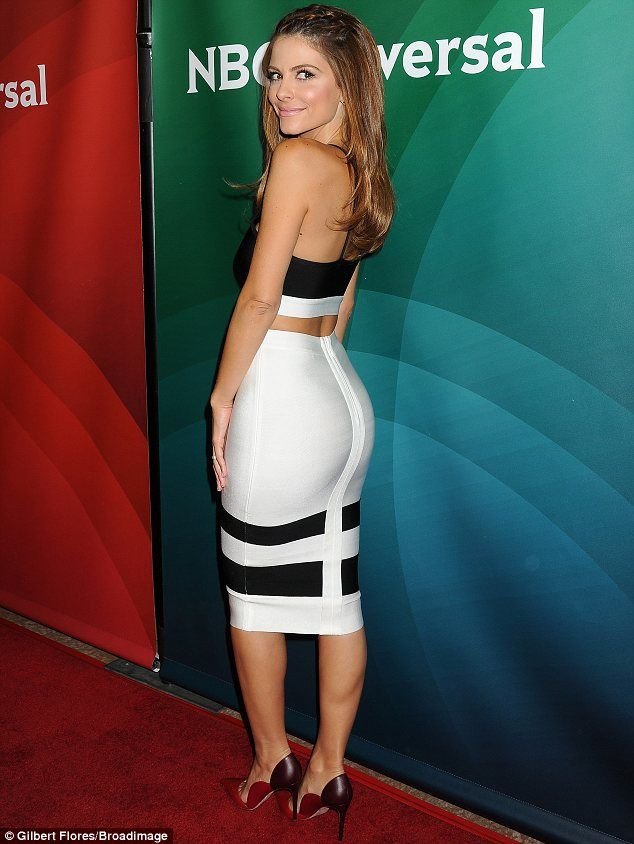 All tight on the night: Maria Menounos wore a form-fitting crop ...