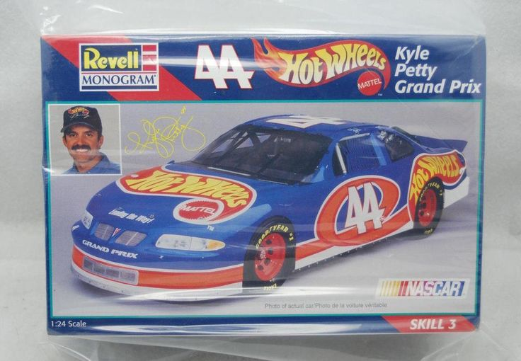 Revell Monogram Hot Wheels Kyle Petty Grand Prix #44- Mattel- Model Race Car Kit #monogram