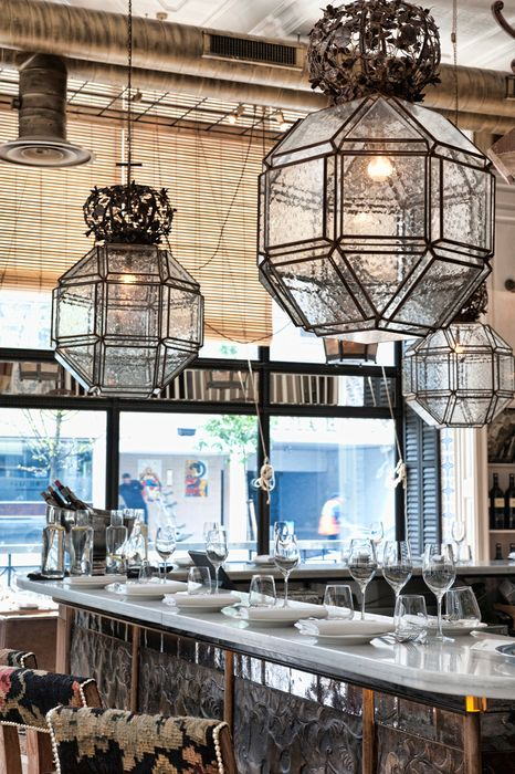 Amazing bar interior design #LazaroRosaViolan #Crystalpatternedlamp #Marbleandcrystalbartable @Bocadolobo @LazaroRosaViolan