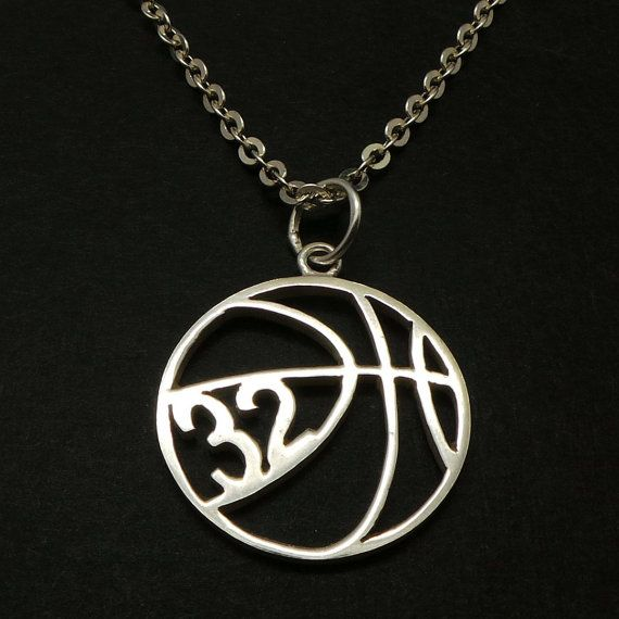 Personalized Basketball Necklace Basketball Jewelry by yhtanaff