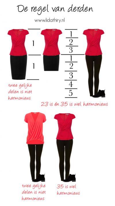 De regel van derden. Hoe je kleding over je lichaam verdeelt om tot een harmonieus geheel te komen. Lees het blog voor de tips. #RegelVanDerden #kledingtip