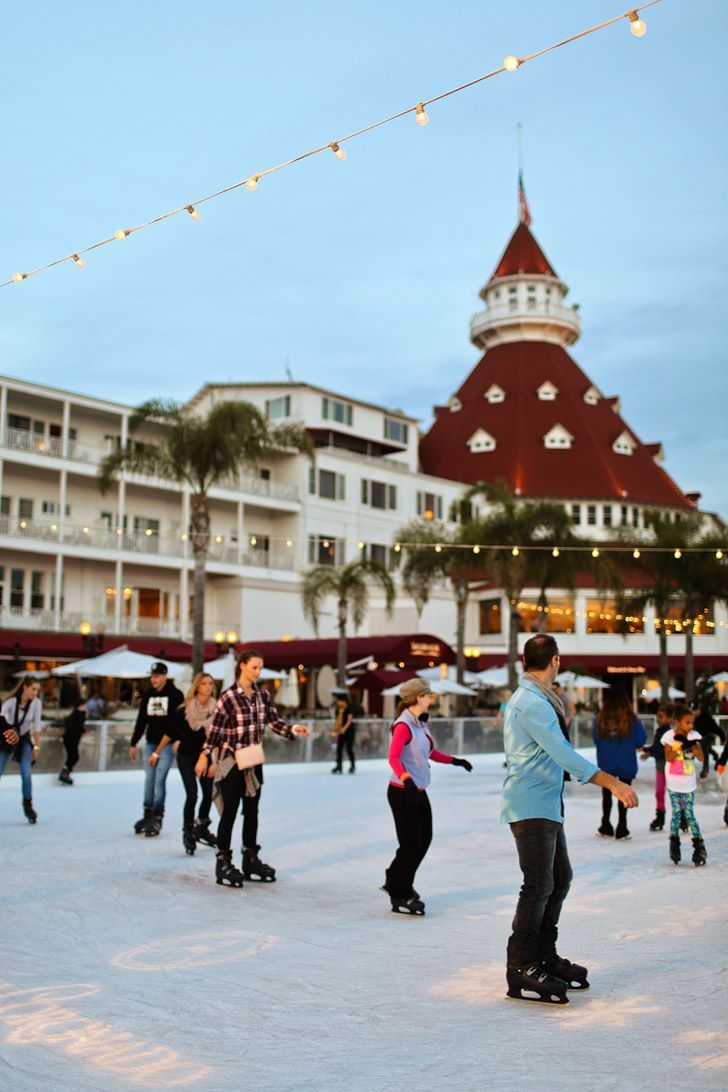 Scenic Ice Skating in San Diego California USA - Hotel Del Coronado Ice Skating By the Sea  // localadventurer.com