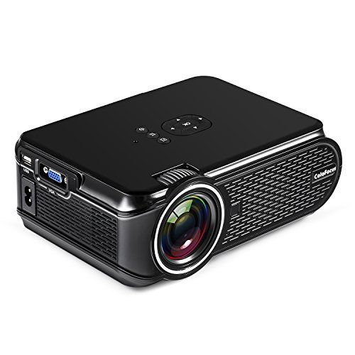 Mini Projector, Home Video HD Projector with 1080P Supported, LCD Projectors for Home Cinema Theater/Computer/TV/Laptop/Gaming/SD/iPad iPhone/Android Smartphone  50% BRIHTER THAN ORDINARY LED PROJECTOR: DBPOWER lcd mini projector is ideal for home entertainment in dark, more brighter than ordinary led projectors. NOT RECOMMEND for PPT or business presentation.  UPDATED FAN SOUND AND SYSTEM: DBPOWER video projector is equipped with an innovative cooling system with heat dispersion, as w...
