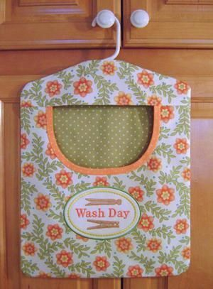 Looking for embroidery project inspiration? Check out Wash Day Clothespin Bag by member JoAnn Connolly.