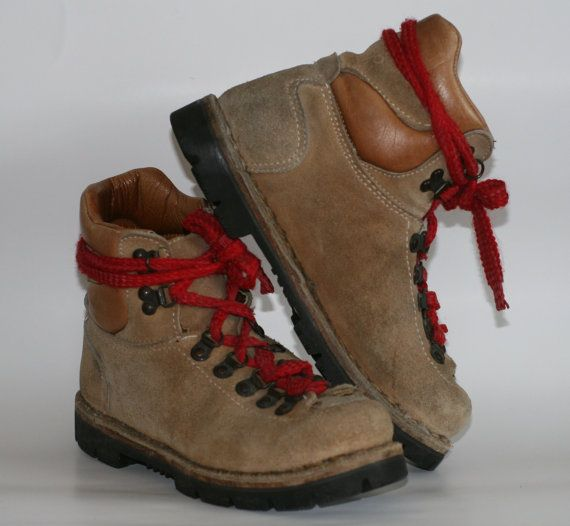 Hiking boots which we called Waffle Stompers, went well with our down jackets.