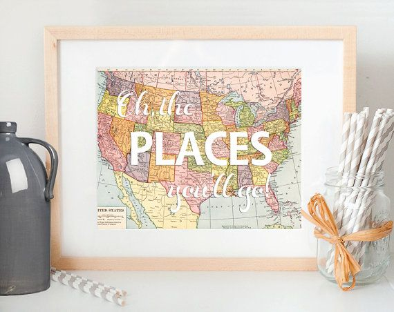 Printable World is your Oyster Vintage World Map door CheekyAlbi