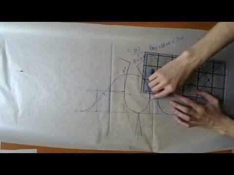 Построение оката рукава по имеющейся пройме - YouTube