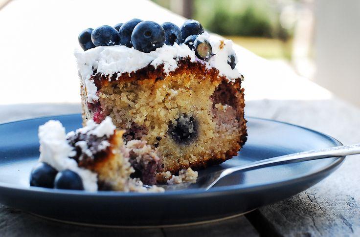 Gluten Free Blueberry cake. Paleo, gluten free, clean eating