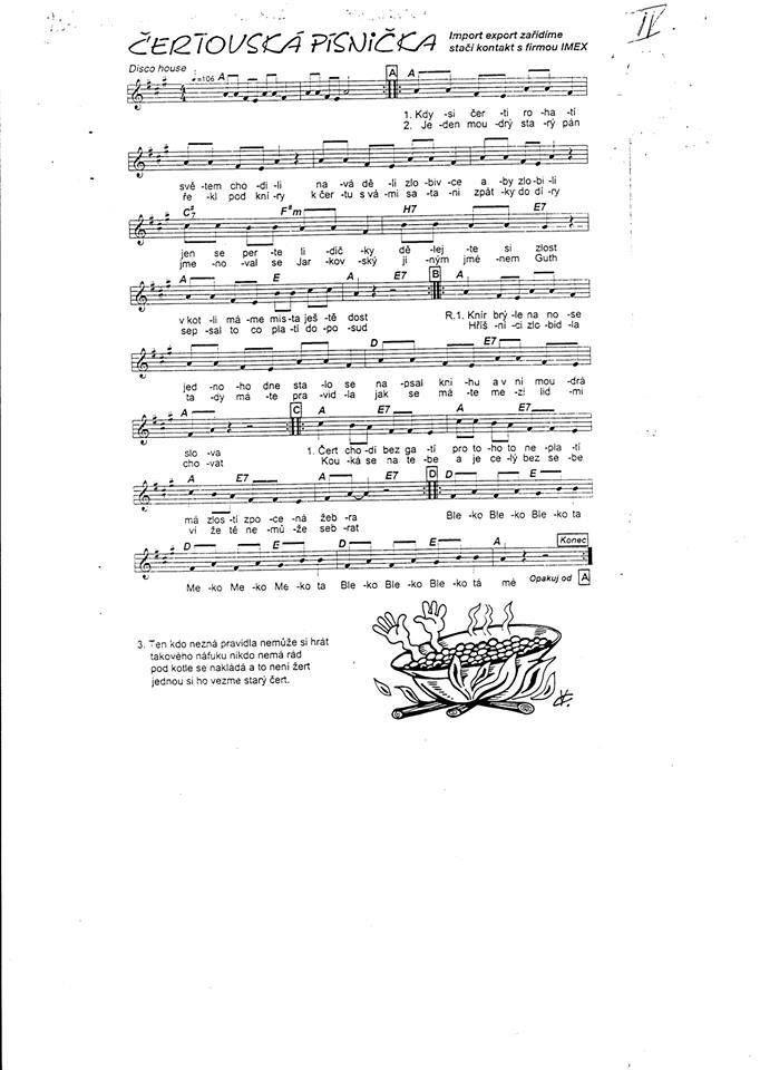 Čertovská písnička