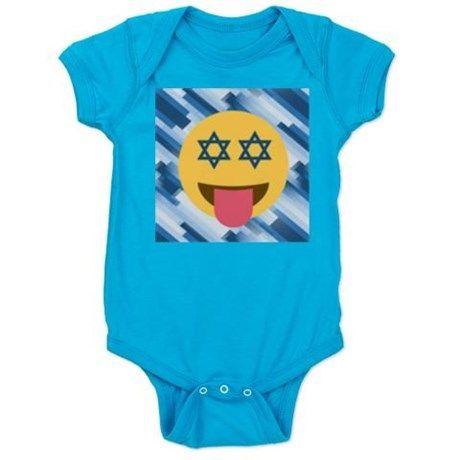 hanukkah chanukkah emoji Baby Bodysuit