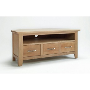 Cambridge Oak Corner TV Unit CO5114  www.easyfurn.co.uk
