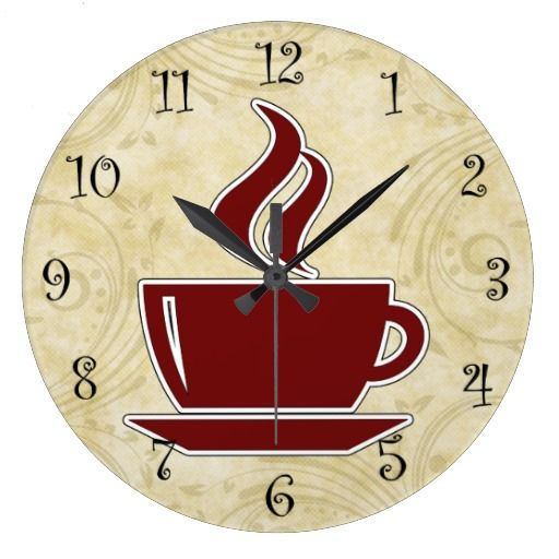 coffee kitchen wall clocks. beautiful ideas. Home Design Ideas