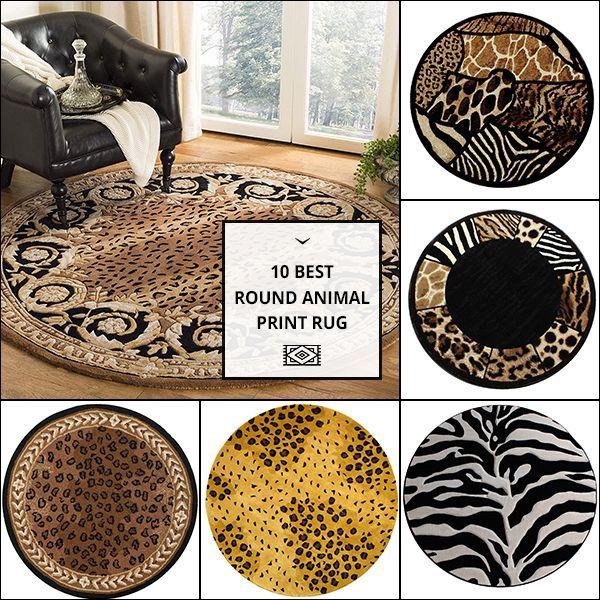 Round Animal Print Rug