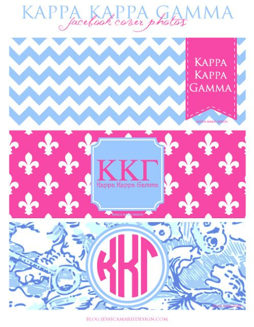 Kappa Kappa Gamma Facebook Covers by Jessica Marie Design