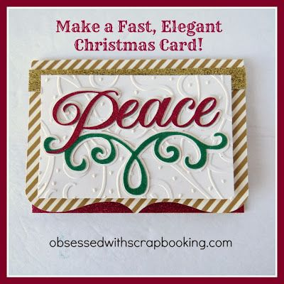 [Video]Anna Griffin Cricut Winter Wonderland Peace Christmas Card