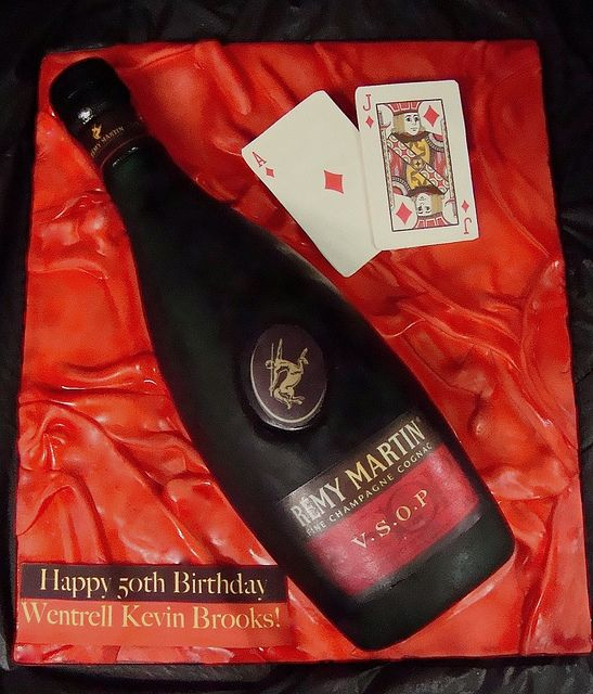 Remy Martin bottle cake