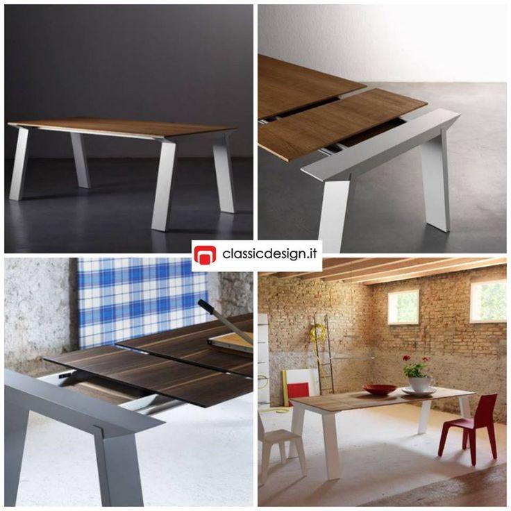 Tavolo allungabile Artù - design Andrea Lucatello - Miniforms