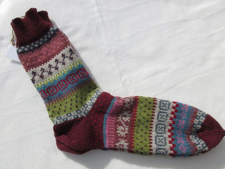 Strümpfe & Socken - Bunte Herrensocken Gr. 44/45 - ein Designerstück von Lotta_888 bei DaWanda