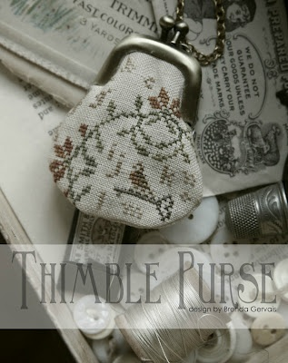 """New Thimble Purses by """"With Thy Needle & Thread - COMING SOON!!  She will have them in cross stitch, needlepunch and wool applique!  PERFECT!  WE LOVE YOU BRENDA!"""