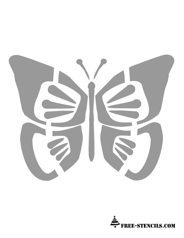 free printable butterfly stencil - Free Kids Stencils