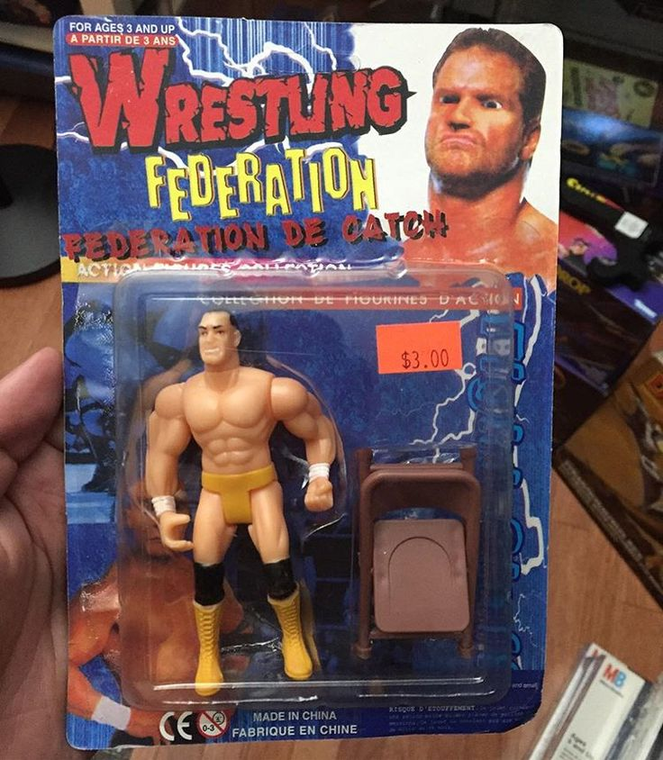 Went to an Indy wrestling show last night in Rhode Island ( Big Time Wrestling ) with my buddy @hawk_mcqueen and picked up this magnificent bootleg from a vendor  _______  You gotta love a Dean Malenko looking figure with Chris Benoit as the main graphic with photoshopped wonky eyes  _______  From 2001, this is probably the greatest thing in my collection at the moment 😂  #bootleg #knockoff #faketoys #wwe #wwf #wcw #actionfigures #toycrewbuddies #zombiesailor #faketoys
