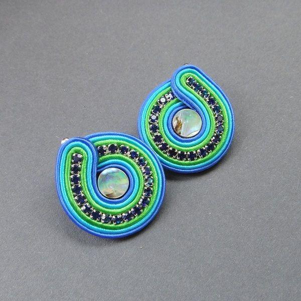 """""""Peacock eye"""" sztyfty sutasz z muszlą Paua w Blue Butterfly na DaWanda.com"""