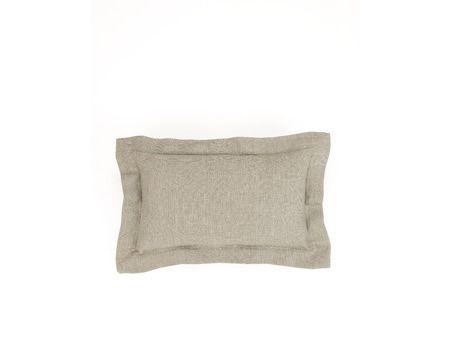 Double Border Linen Cushion (Small) | Nuttall