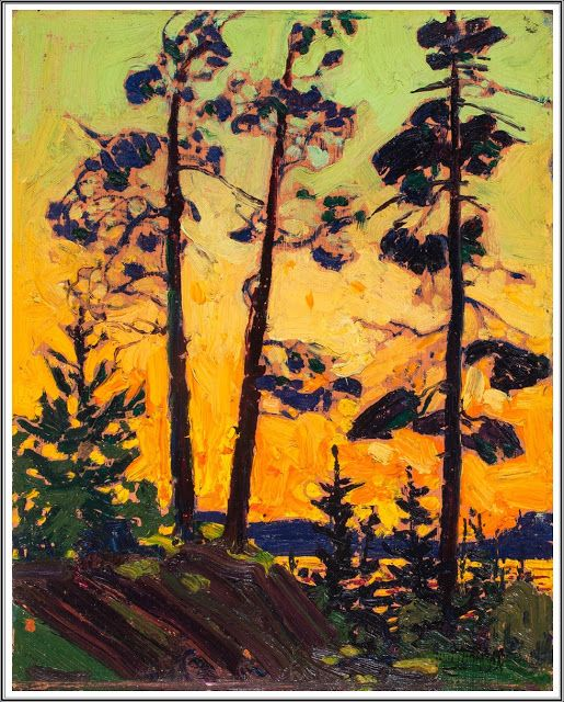 Tom Thomson (1877-1917), Pins au Coucher du Soleil - 1916