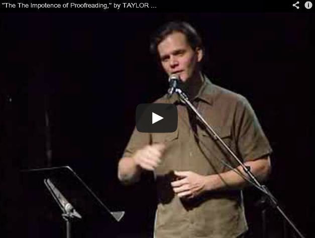 """VIDEO - Poem called """"The The Impotence of Proofreading"""" by Taylor Mali"""