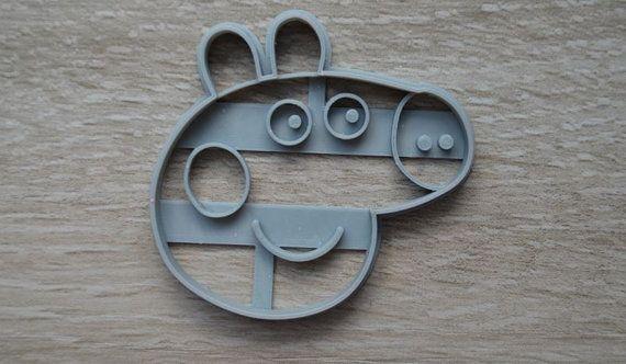SALE Peppa Pig Cookie Cutter Fondant by MiraculousDesignsAus