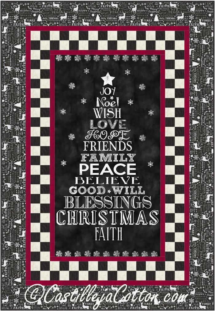 Chalkboard Christmas Quilt Pattern Cjc 49111 Christmas