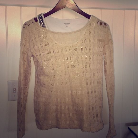 Cute Camel Top Great for layering on top of color and sparkles. Forever 21 Tops