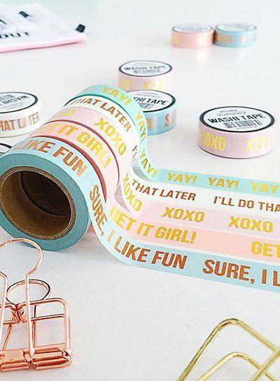 Studio Stationery Washi tape pink XOXO - Studio Stationery