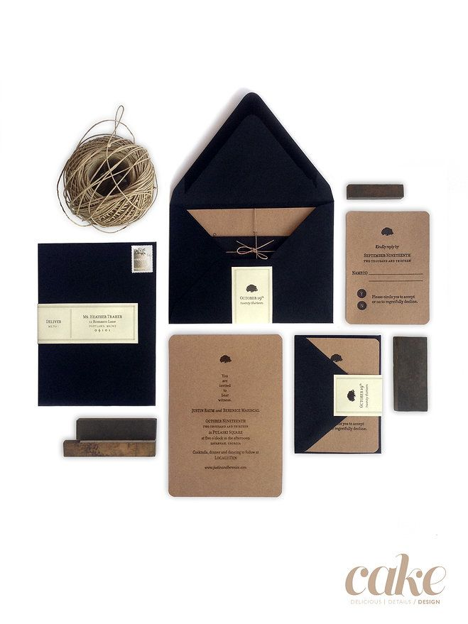Mariscal | Baum Letterpress Wedding Invitations and Paper Goods