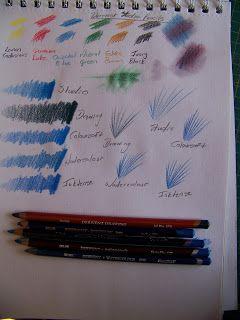 A Pretty Talent Blog: Comparing Derwent Pencils to Derwent Pencils