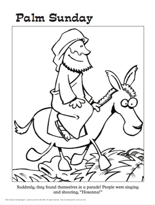 46 best balaam images on pinterest donkeys donkey and for Free palm sunday coloring pages