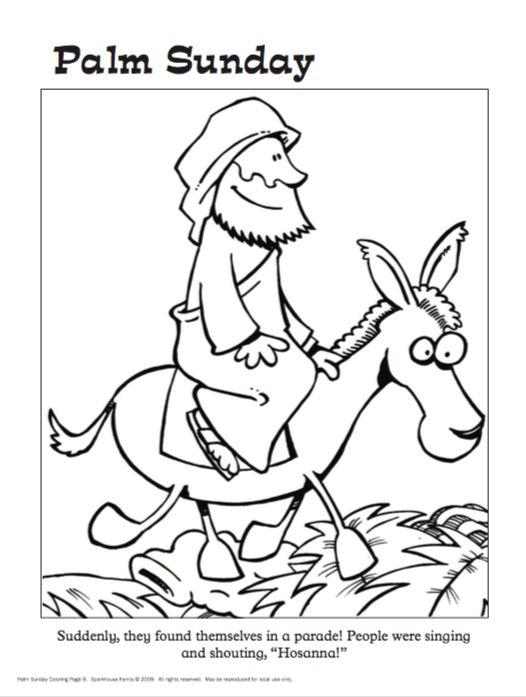 jesus triumphal entry coloring pages - photo #47