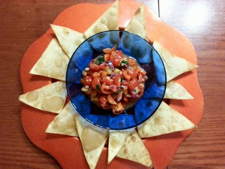 Pico de Gallo con Nachos all'Italiana