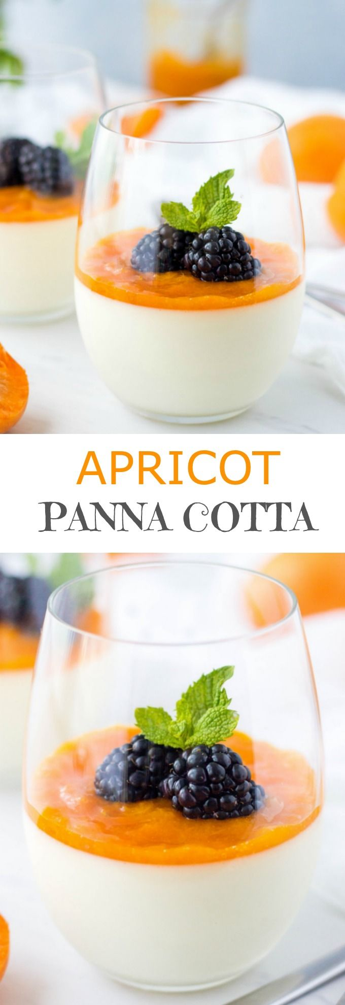Classic Italian dessert with a French twist. This mouthwatering Apricot Panna Cotta has a silky smooth texture and some unexpected flavor.