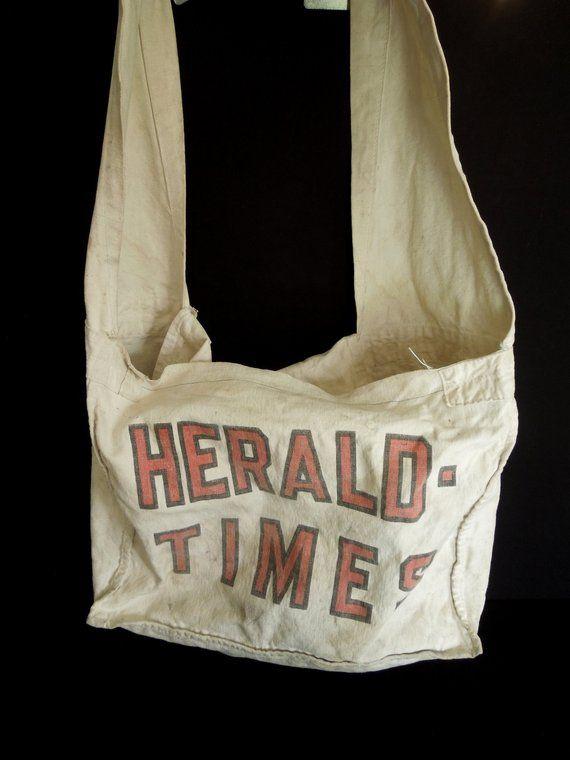 Newspaper Messenger Tote Vintage Messenger Tote Tote Newspaper Bags