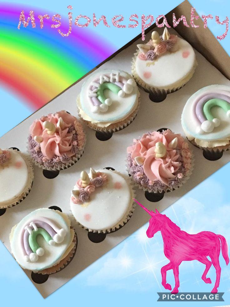 Unicorns and rainbows cupcakes