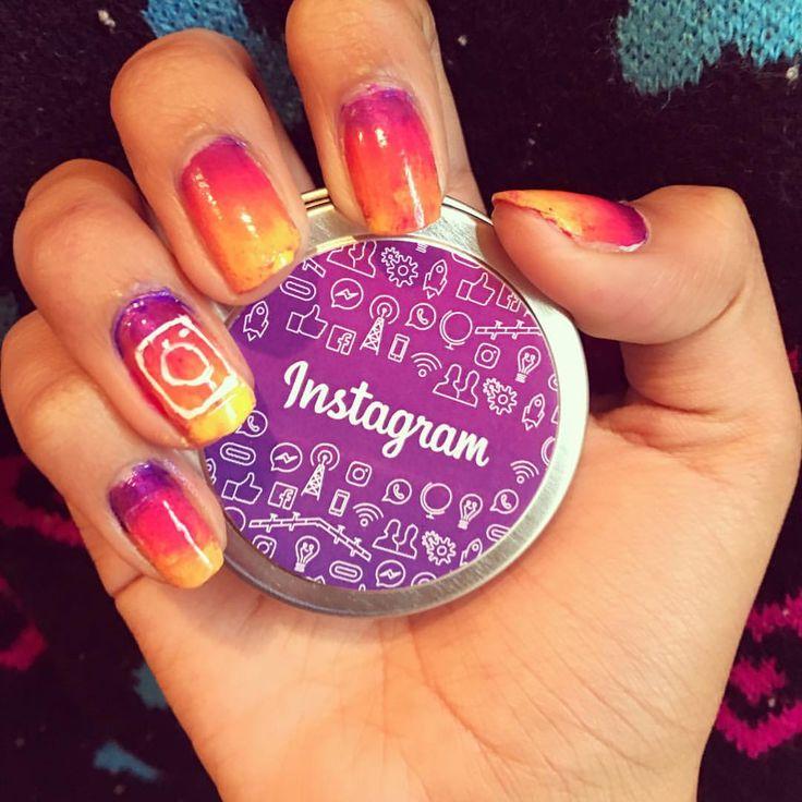Instagram logo nails!   #nails #nailart #instagram @instagram #instagramnails #nailstagram #ombre #ombrenails #instanails #socialmedia #socialmedianails #nailsinc #sinfulcolors #wetandwild #ulta #nailpolishaddict #nailpolish #nailaddict #instagramlogo #instanails #instagramlogonails #nailsoftheday