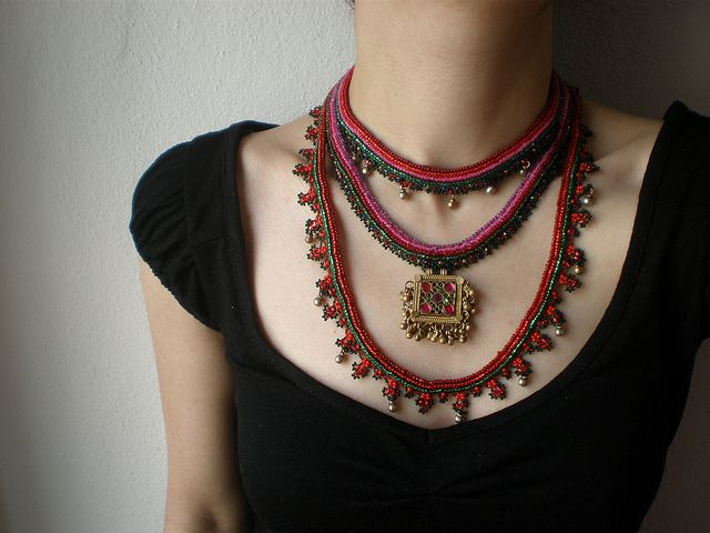 Old World - Myriad ... Freeform Beaded Crochet Necklace by irregular expressions, via Flickr