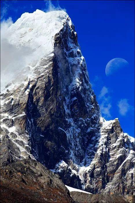 Monte Everest, cordillera de Mahalangur Himal, en el continente asiático