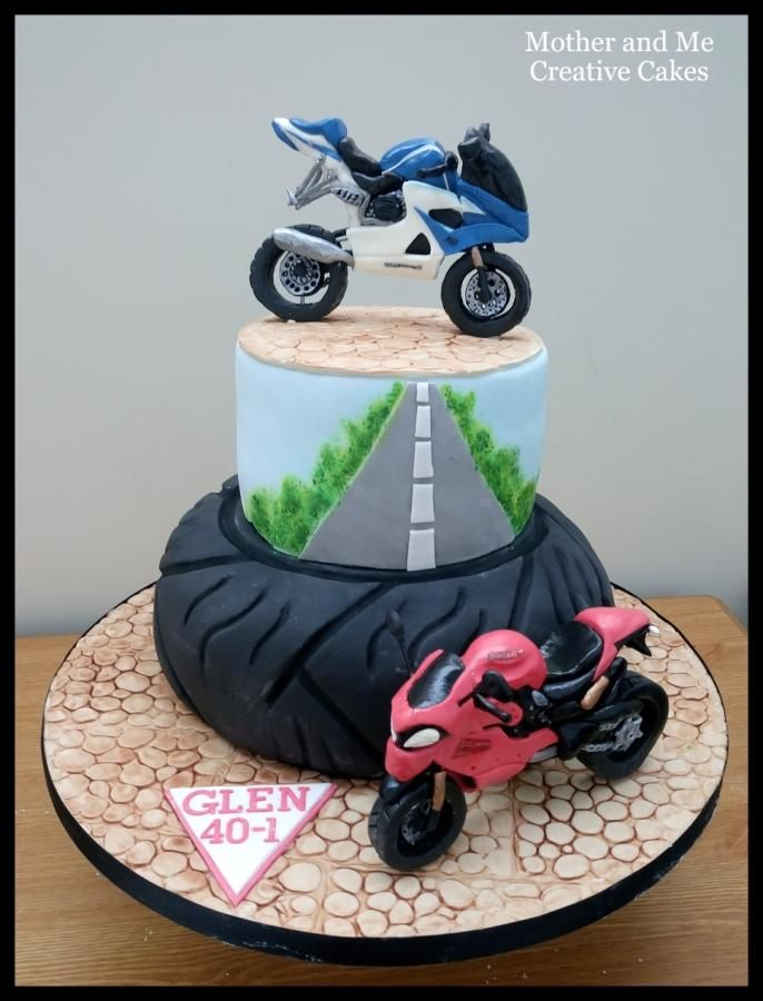 Motorbike Cake  - cake by Mother and Me Creative Cakes