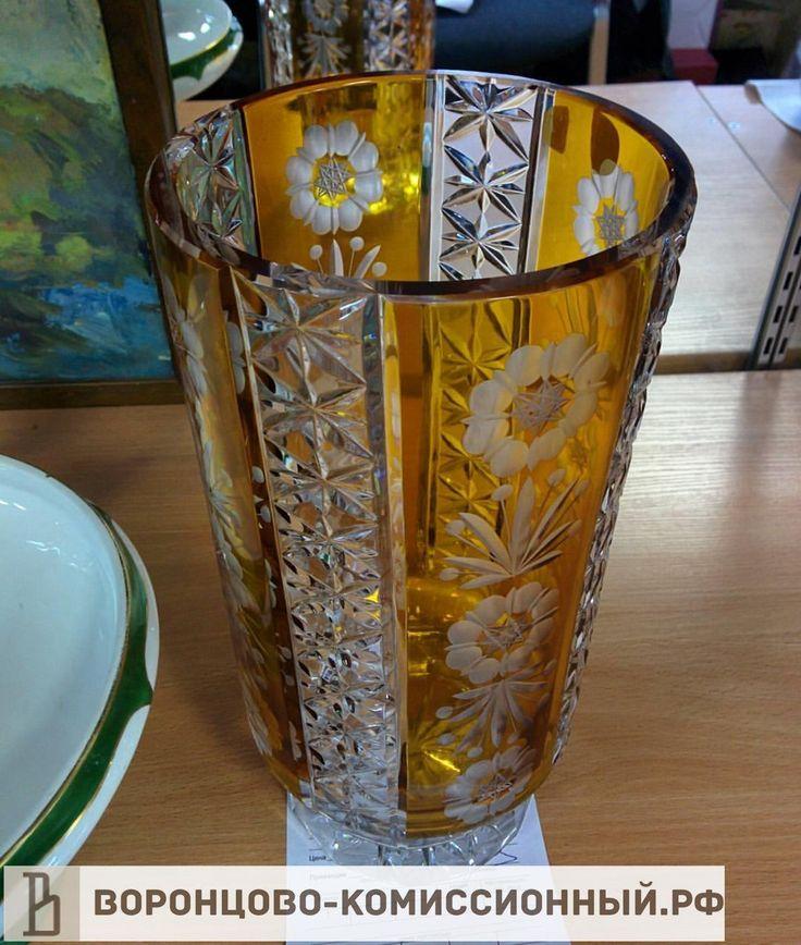 Хрустальная ваза, 5000 рублей, Чехословакия, #вазадляцветов, ##хрустальнаяваза, #хрусталь, #хрустальный, #ваза, #вазасцветами