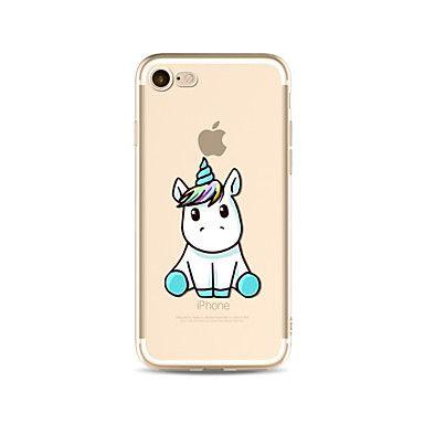 Para Translúcido / Estampada Capinha Capa Traseira Capinha Animal Macia TPU AppleiPhone 7 Plus / iPhone 7 / iPhone 6s Plus/6 Plus / - BRL R$ 10,11