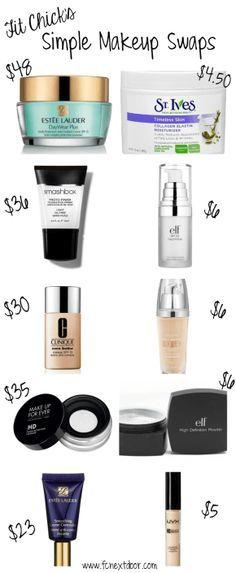 Simple Swaps: Makeup Edition – Vol 1. Our favorite makeup dupes. #FCnextdoor…